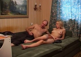 Pale blonde gets banged by her own dad