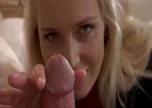 Round ass blonde stroking son's cock in POV