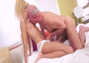 Hipster blonde with cute feet fucking her dad