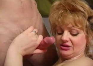 Pudgy mommy sideways fucked by her son