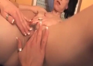 Insane masturbation with mother and daughter